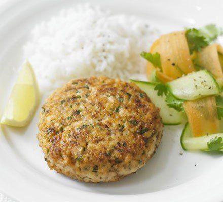 Recetas – Hamburguesas de salmón Superhealthy