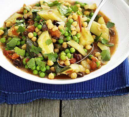 Recetas – Tagine de verduras con garbanzos y pasas