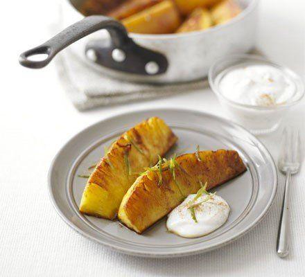 Recetas – Piña  aderezado con queso fresco de canela