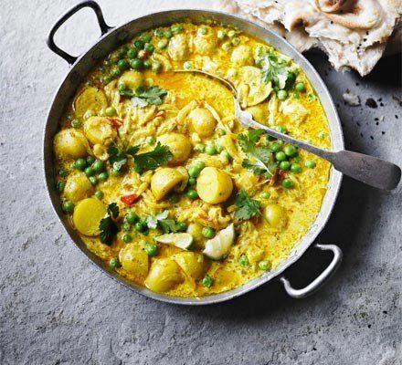 Recetas – Pea y  patata al curry