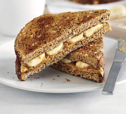 Recetas – Tostada de mantequilla de maní y banana
