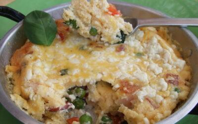 Recetas – Pastel de verduras y huevos al horno