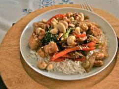 Recetas – Pollo con anacardos (nueces de la india)