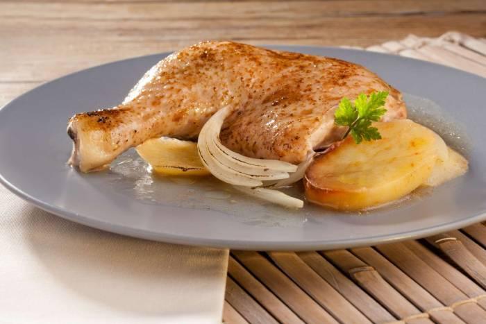 Recetas – Pollo asado en microondas