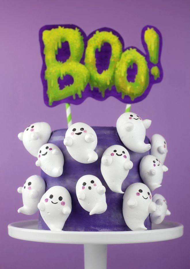 Pastel Boo-merengue – bakerella.com