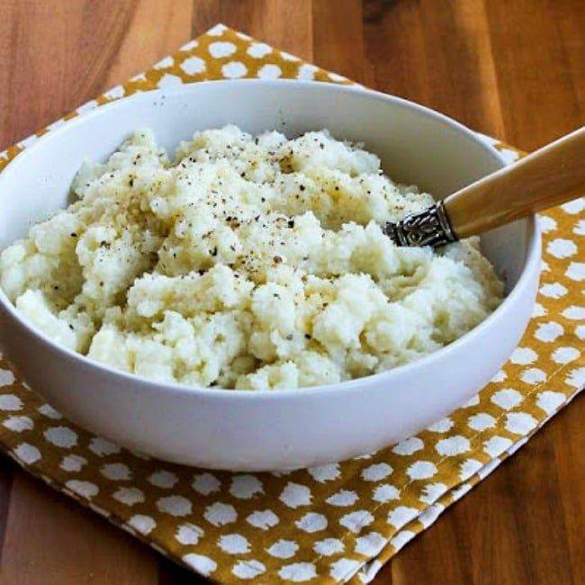 La MEJOR coliflor en puré con ajo, parmesano y queso de cabra (video)