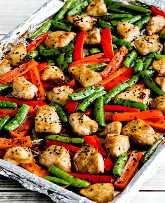 Sartén para saltear pollo con bajo contenido de carbohidratos (video)
