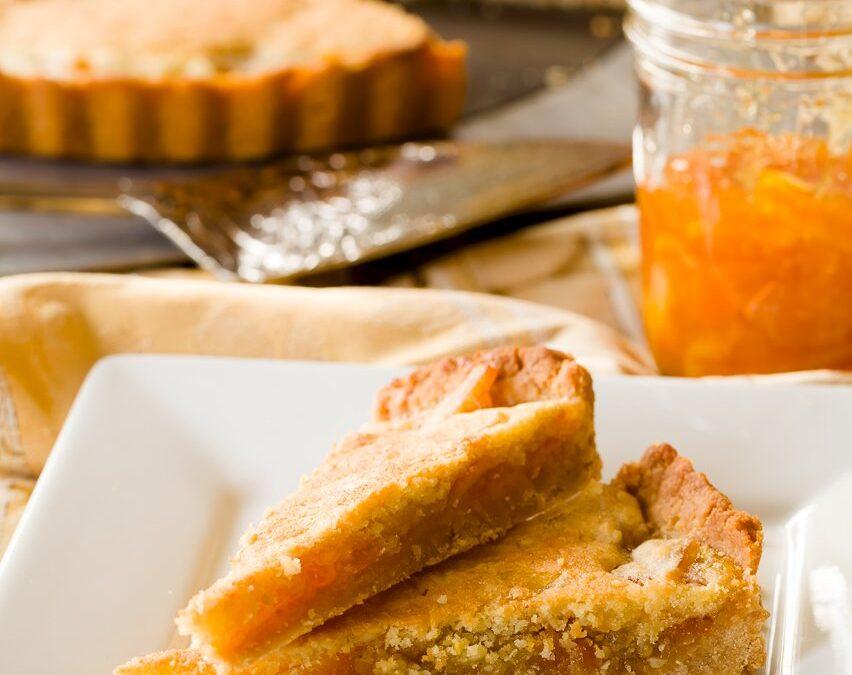 Tarta de mermelada – Tarta de naranja fácil con costra de miel salada