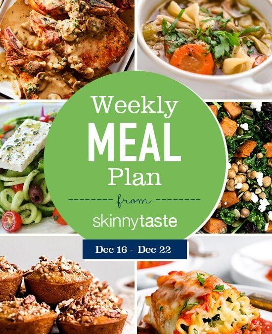 Plan de comidas Skinnytaste (del 16 de diciembre al 22 de diciembre)