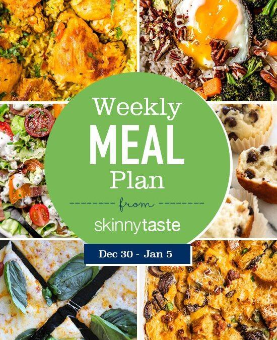 Plan de comidas Skinnytaste (del 30 de diciembre al 5 de enero)