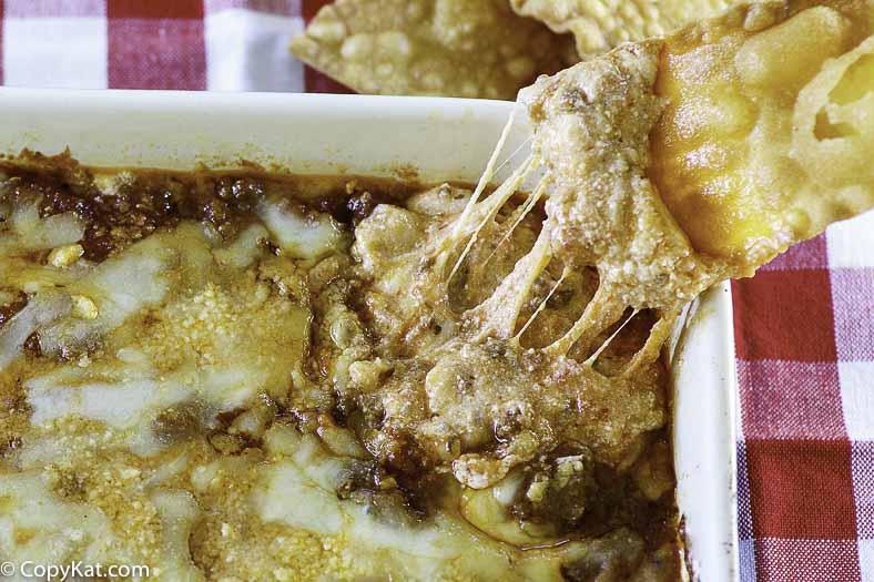 Dip de lasaña y papas fritas Olive Garden