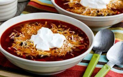 Sopa instantánea de tacos bajos en carbohidratos (o estufa) (video)