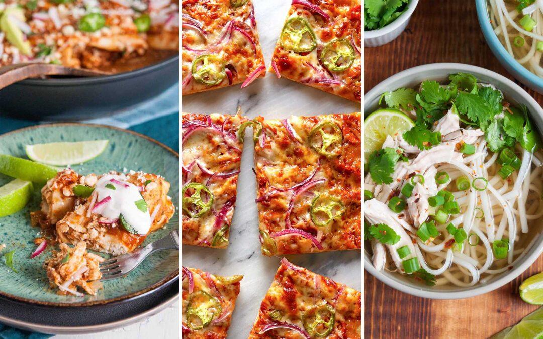 12 comidas para hacer con pollo asado