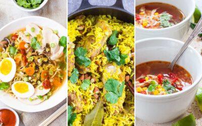 13 comidas rápidas y fáciles entre semana con caldo de pollo