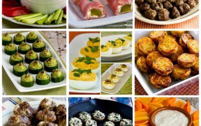 Más de 50 recetas de aperitivos bajos en carbohidratos y sin gluten