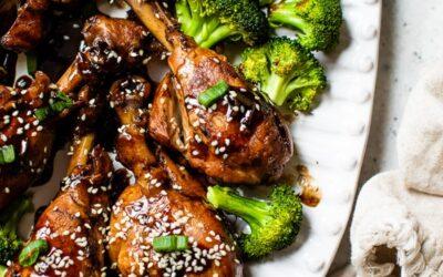 Muslos de pollo glaseados asiáticos – Skinnytaste