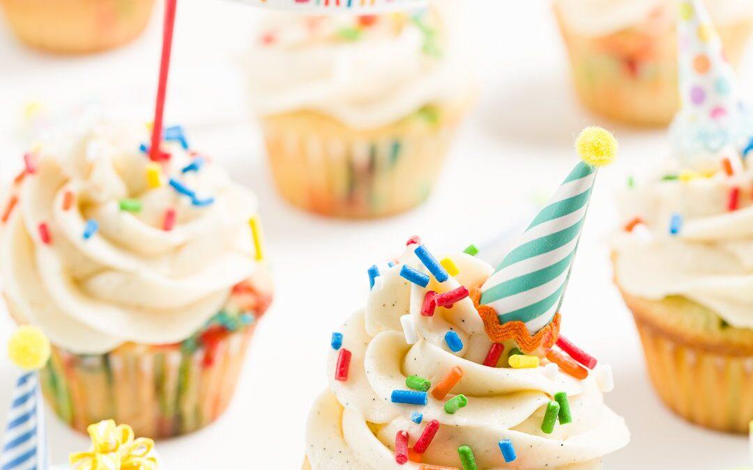 Los mejores cupcakes de cumpleaños – Cupcakes caseros de Funfetti