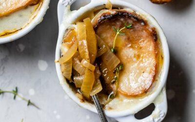 Sopa de cebolla francesa casera (aligerada)