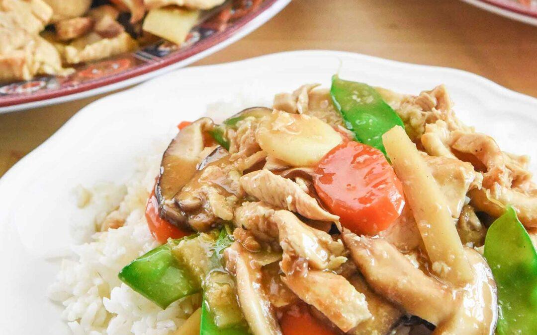 Receta Moo Goo Gai Pan (Salteado de Pollo y Champiñones Chino)