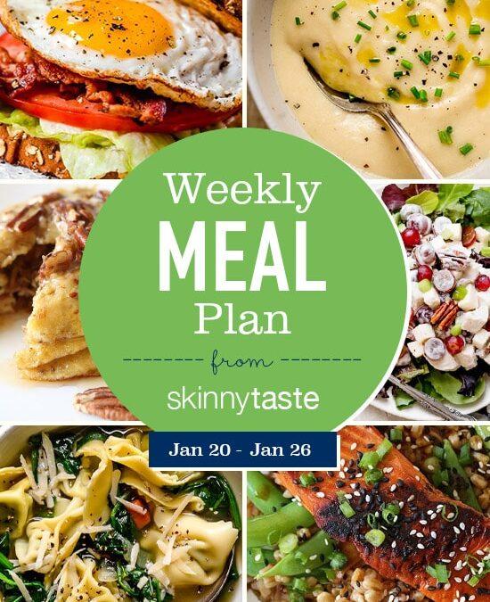 Plan de comidas Skinnytaste (del 20 de enero al 26 de enero)