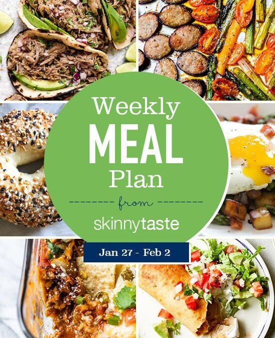 Plan de comidas Skinnytaste (del 27 de enero al 2 de febrero)