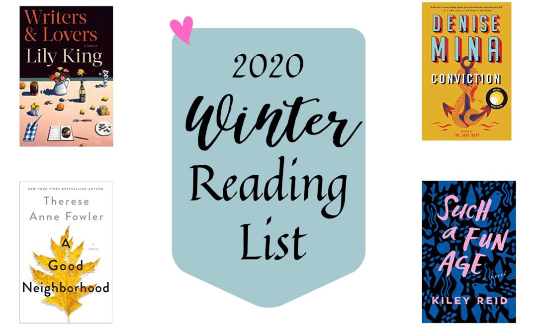 ¡Mi lista de lectura de invierno 2020!