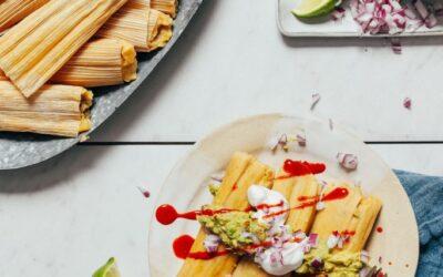 Tamales de pollo chile verde fácil