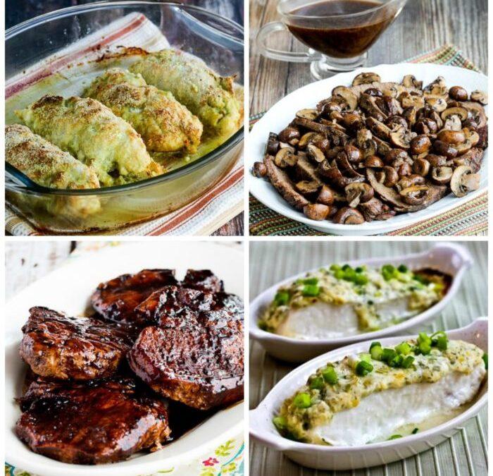 Menús de cena bajos en carbohidratos para el día de San Valentín o invitados a cenar