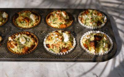 Muffins de calabaza y queso feta sin semillas