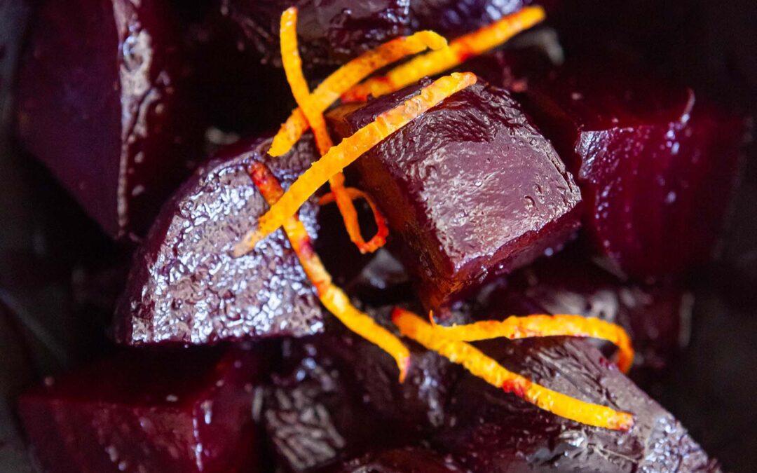 Receta de remolacha asada con glaseado balsámico