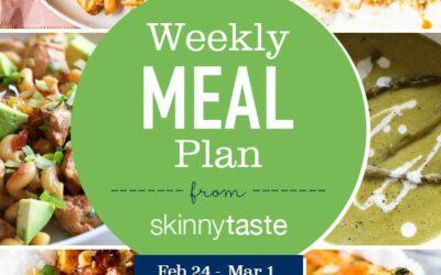 Plan de comidas para bajar de peso de 7 días (del 24 de febrero al 1 de marzo)