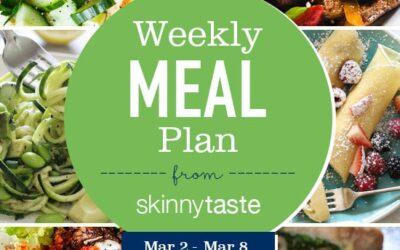 Plan de comidas para bajar de peso de 7 días (del 2 de marzo al 8 de marzo)