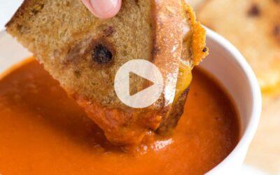 Sopa de tomate de tres ingredientes fácil