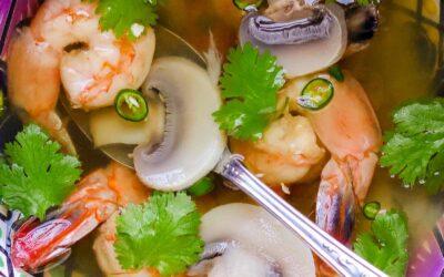Sopa Tailandesa con Camarones (Sopa Tom Yum)