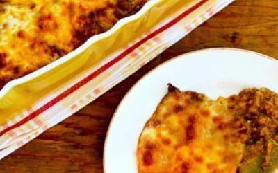 Cazuela de enchilada baja en carbohidratos con pavo molido y chiles