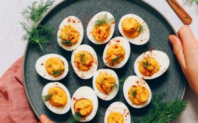Huevos Rellenos sin Mayo | Recetas minimalistas de panadero