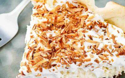 Tarta de crema de coco pasada de moda de Bakers Square