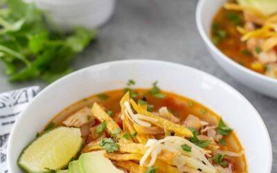 Receta instantánea de sopa de tortilla de pollo
