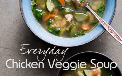 Sopa de pollo y vegetales todos los días en 30 minutos