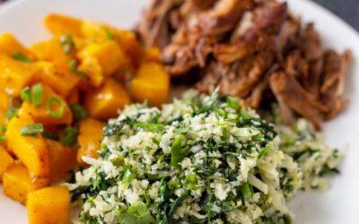 Receta de arroz con coliflor verde | SimplyRecipes.com