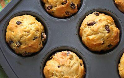 Muffins de pan de soda irlandesa de trigo integral