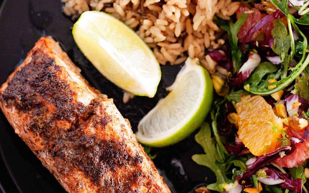 Receta rápida y fácil de salmón Jerk