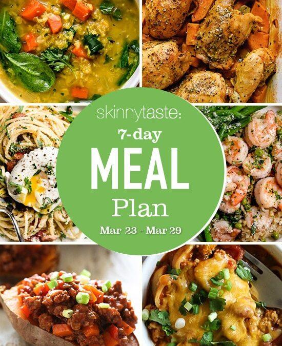 Plan de comidas saludables de 7 días (del 23 de marzo al 29 de marzo)