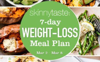 Plan de comidas para bajar de peso de 7 días (9-15 de marzo)
