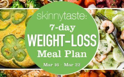 Plan de comidas para bajar de peso de 7 días (del 16 de marzo al 22 de marzo)