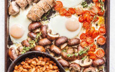 Receta de desayuno inglés Sheet Pan