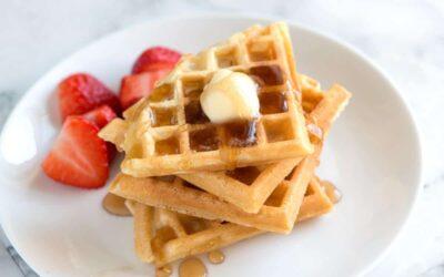 Waffles ligeros y crujientes