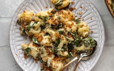 Espinacas Mac y Queso – Crema de Espinacas Mac y Queso