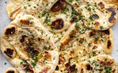Receta de pan Naan – Receta de pan Naan de mantequilla de ajo
