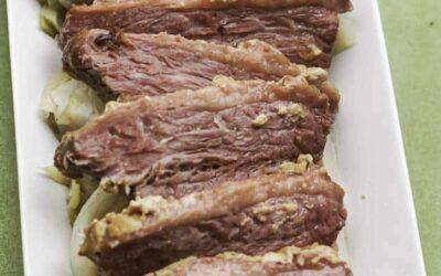 Carne en lata al horno con mostaza y azúcar morena